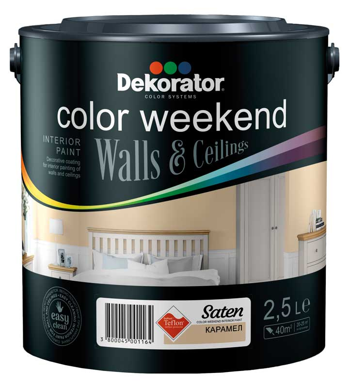 DEKORATOR ЛАТЕКС Color Weekend Satin Teflon / Сатен